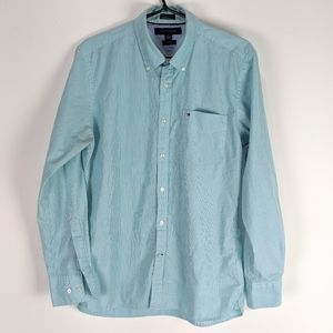 5/$25 Tommy Hilfiger 80's 2 ply Green Shirt